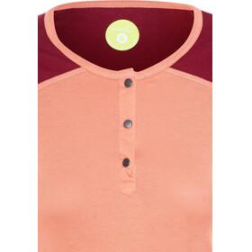 Edelrid Highball longsleeve Dames oranje/rood